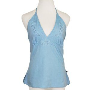 The North Face Embroidered Tank Top Blue Medium